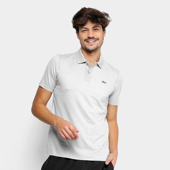 Camisa Polo Lacoste Bordado Masculina - Cinza - Compre Agora  c91ec874c47ea