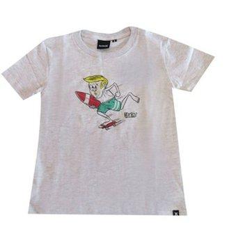Camiseta Juvenil Silk Surfs Up Hurley 387f8202f0f