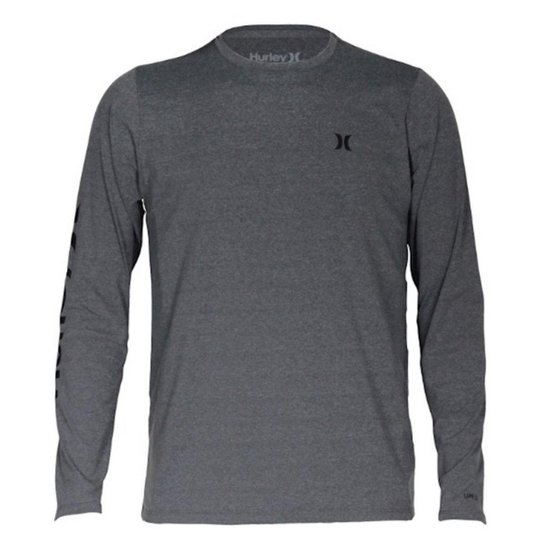 Camiseta Lycra Surf Hurley Manga Longa Strong - Cinza - Compre Agora ... 7e3e159749d
