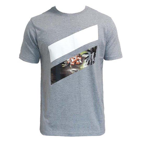 556359ee0fc5f Camiseta Hurley Slash Palms Masculina - Cinza - Compre Agora