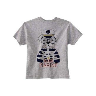 420840fe7d4 Camiseta Infantil Joss Dog Marine Feminina