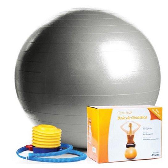 fbb882991c4b4 Bola Pilates 65cm C  Bomba Ar Pvc - Scalibu - Cinza - Compre Agora ...