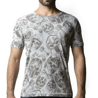 fdbf540bee Camiseta Caveira Motociclista - Somos Todos Iguais
