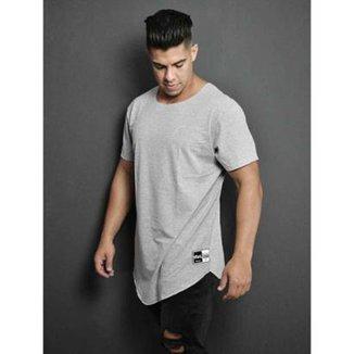 5f7e70f02a Camiseta Masculina - Longline - basica