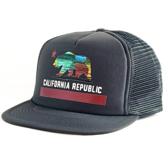 Boné Blanks Co Snap Back California Aba Reta - Cinza - Compre Agora ... f343d9dcdfa