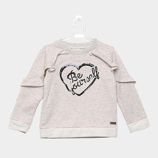 Moletom Infantil Quimby Be Yourself Feminino