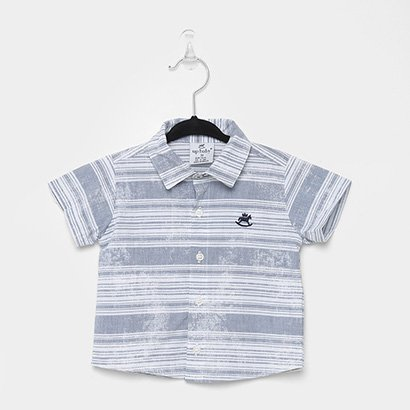 Camisa Polo Infantil Up Baby Listrada Masculina