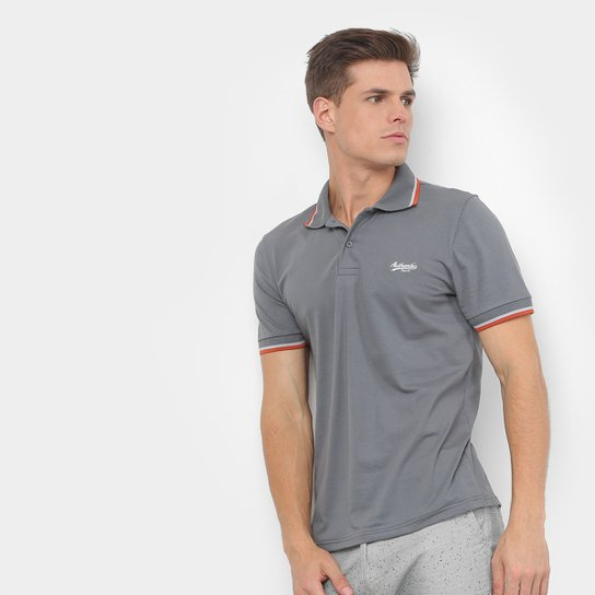 Camisa Polo BURN Basic Color Masculina - Cinza - Compre Agora  2e77e6082f705