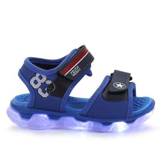 f1cb7083828ec Sandália Infantil Klin Velcro Papete Baby Light Menino - Azul Royal