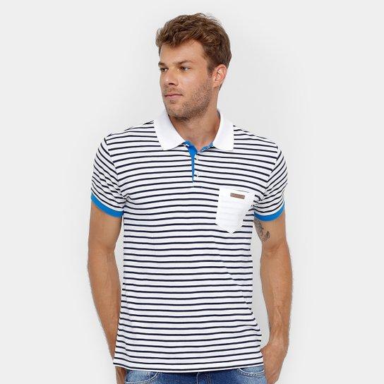 0a21d5e1d6 Camisa Polo Colcci Listrada Bolso Masculina - Azul