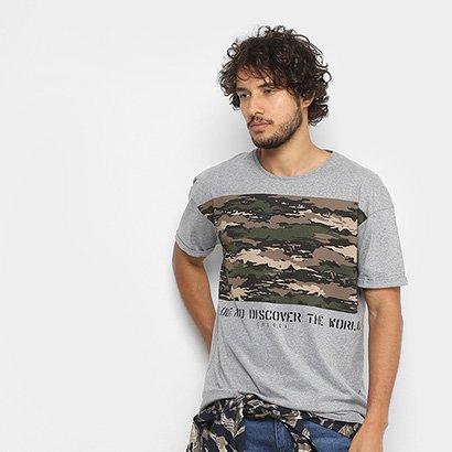 Camiseta Colcci Estampa Camuflada Masculina