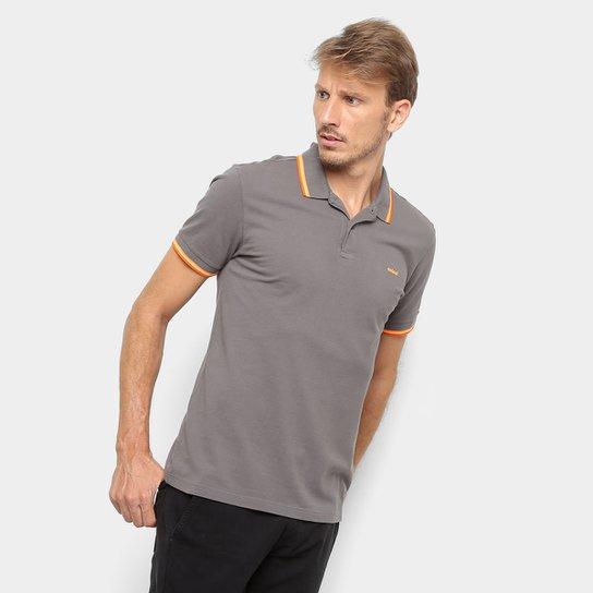 63facd28c5 Camisa Polo Colcci Detalhe Neon Masculina - Cinza - Compre Agora ...