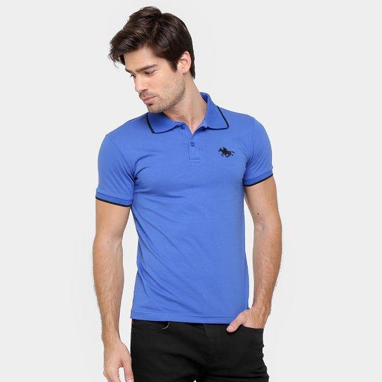 b2d1dc3b3 Camisa Polo RG 518 Malha Friso Logo Masculina - Azul Royal - Compre ...