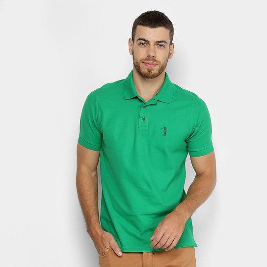 Camisa Polo Aleatory Piquet Color Logo Masculina - Verde escuro ... 246a204c37a31