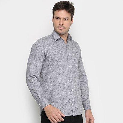 Camisa Aleatory Slim Estampada Manga Longa Masculina