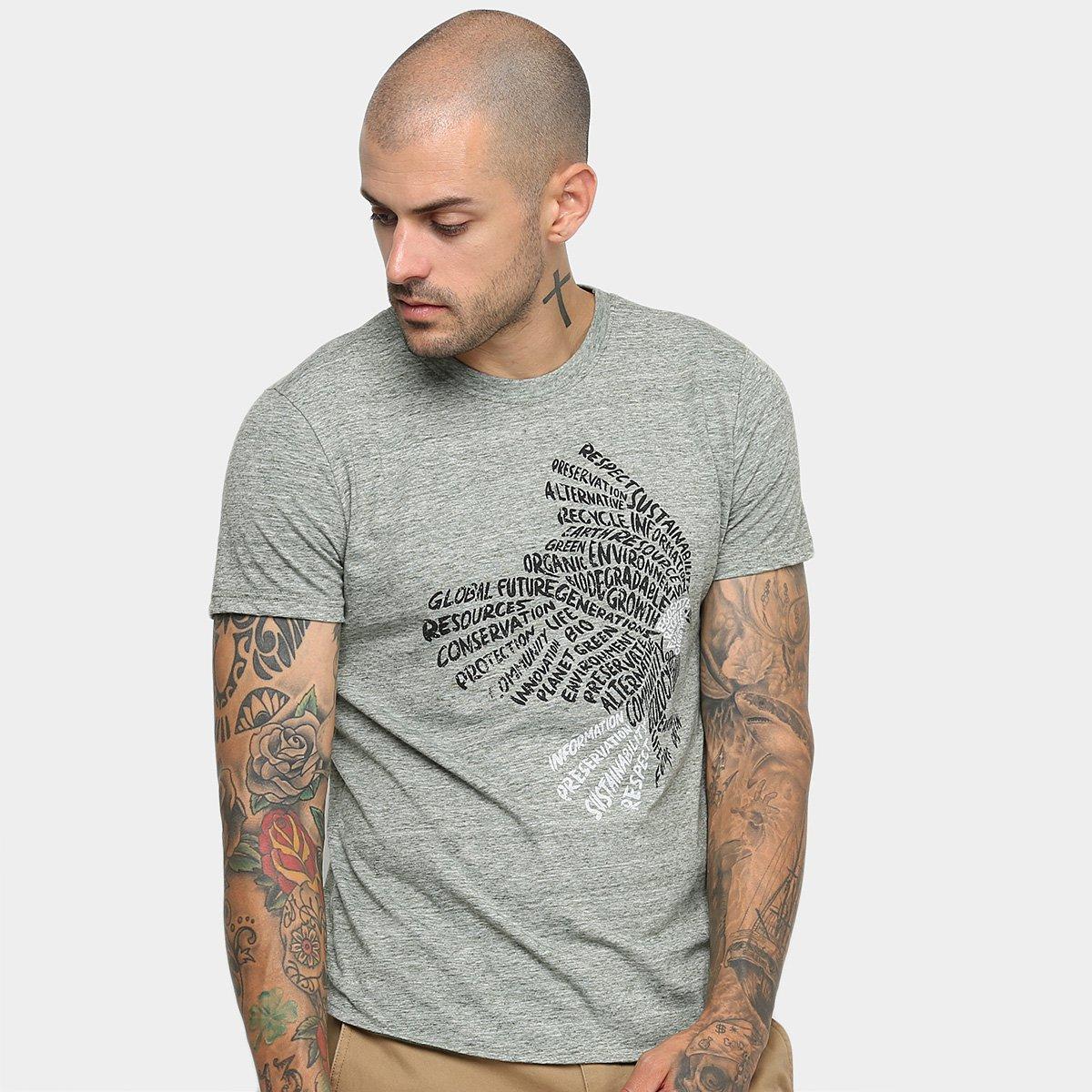 Foto 1 - Camiseta Malwee Slim Malha Sustentável Masculina