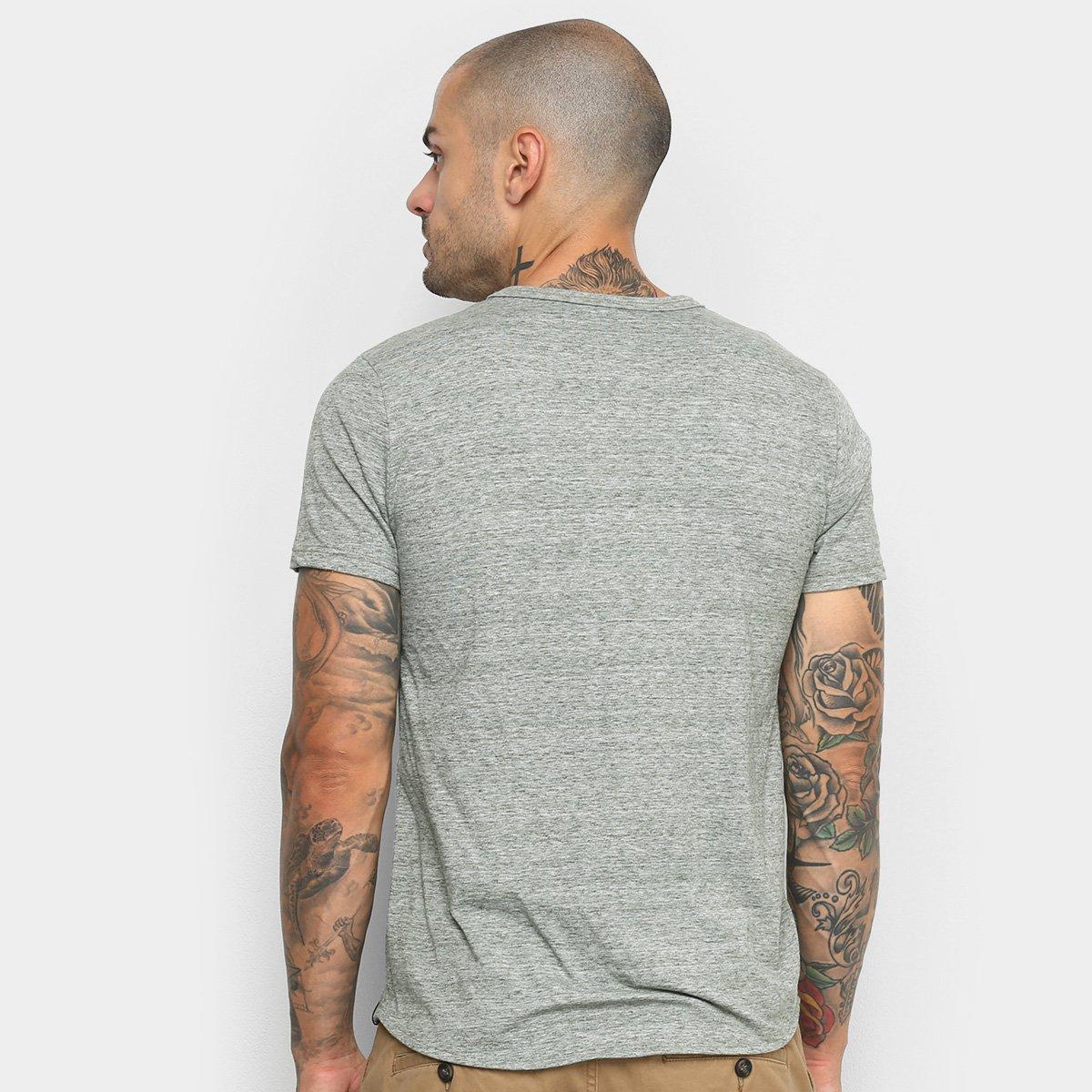 Foto 2 - Camiseta Malwee Slim Malha Sustentável Masculina