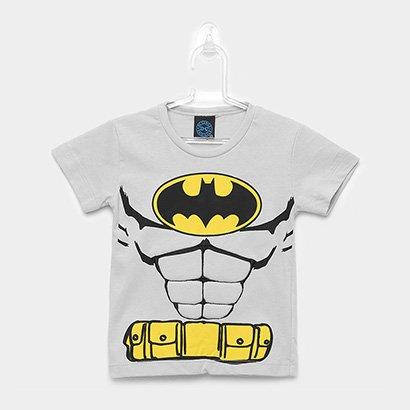 Camiseta Infantil Kamylus Meia Malha Liga Da Justiça Masculina