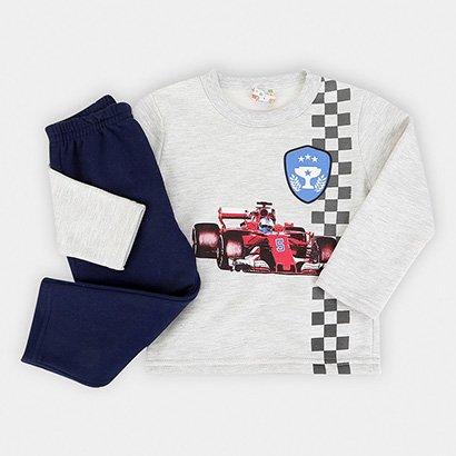 Conjunto Infantil Moletom Brandili Formule 1 Masculino
