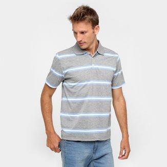 Camisa Polo Mosato Malha Listras Fio Tinto 2918e91b32d39
