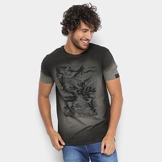 Camiseta Replay Manga Curta Camuflada Masculina 746801cfaf513