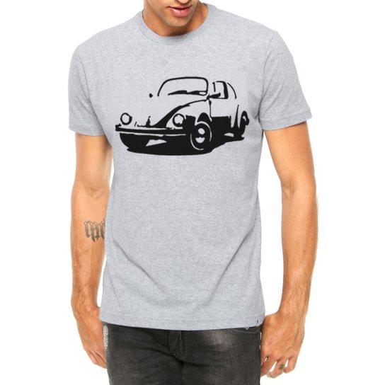 882271dba Camiseta Criativa Urbana Carro Antigo Clássico Fusca Manga Curta - Cinza