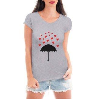 22688d6632 Camiseta Criativa Urbana Chuva De Corações