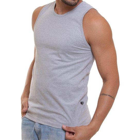 Camiseta Regata Masculina Oitavo Ato Lisa Básica Mescla - Cinza ... 9237e745564