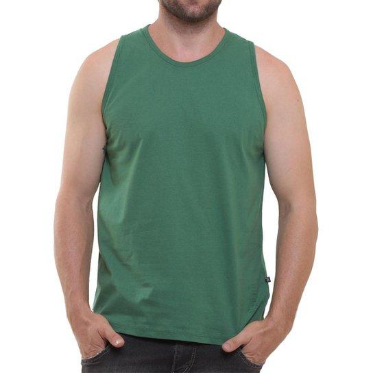 Camiseta Regata Masculina Oitavo Ato Lisa Básica Mescla - Verde escuro 5f316f62443
