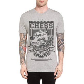 2c6eb3d784 Camiseta Chess Clothing Cinza Mescla
