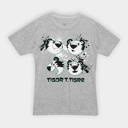 Camiseta Infantil Tigor T Tigre Estampa Personagem Masculina
