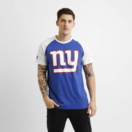 Camiseta New Era NFL Reglan New York Giants Basic - Azul Royal+Branco 54e8a05f98b