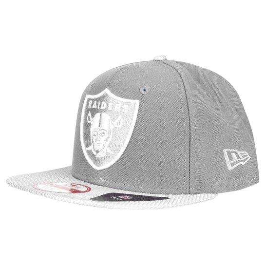 Boné New Era 950 NFL Original Fit Flash Oakland Raiders - Cinza+Branco f795aaf23f7