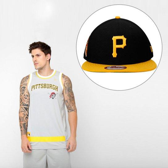 4efc416404593 Kit Camiseta Regata New Era MLB + Boné Pittsburgh Pirates - Compre ...