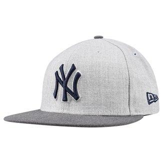 Boné New Era MLB 950 Sn Heather Act Snap New York Yankees Hgrh d6dbfde60db
