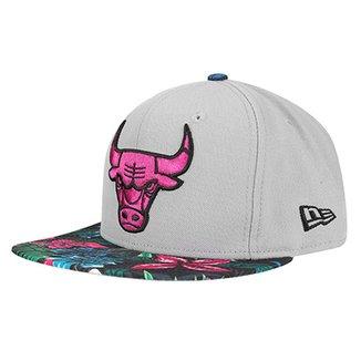 4ad90bc5c9f2b Boné New Era NBA 950 Of Sn Gray Black Floral Chicago Bulls
