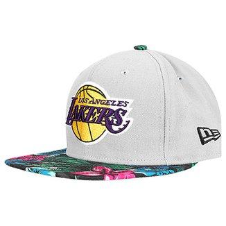 Boné New Era NBA 950 Of Sn Gray Black Floral Los Angeles Lakers 999e200cbf9