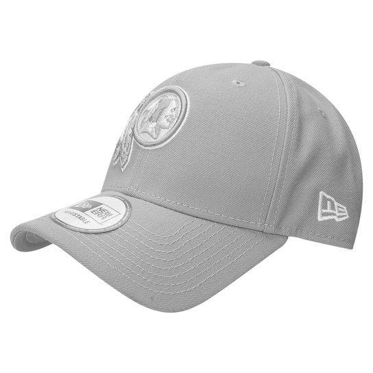fcec6e420 Boné New Era 940 Hc Sn White On Gray Washington Redskins - Compre ...