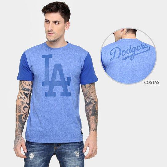 87de014965f71 Camiseta New Era MLB Mescla 36 Los Angeles Dodgers - Compre Agora ...