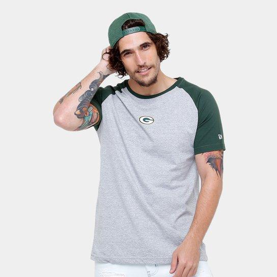 Camiseta NFL Green Bay Packers New Era Team Mini Logo Masculina - Cinza+ Verde 3b734035ef30b