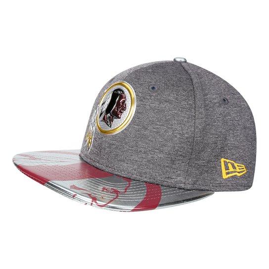 Boné New Era Washington Redskins Aba Reta 950 Original Fit Sn Spotlight  Masculino - Cinza 6baa3a1242482