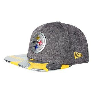 Boné New Era Pittsburgh Steelers Aba Reta 950 Original Fit Sn Spotlight  Masculino b50330c958d