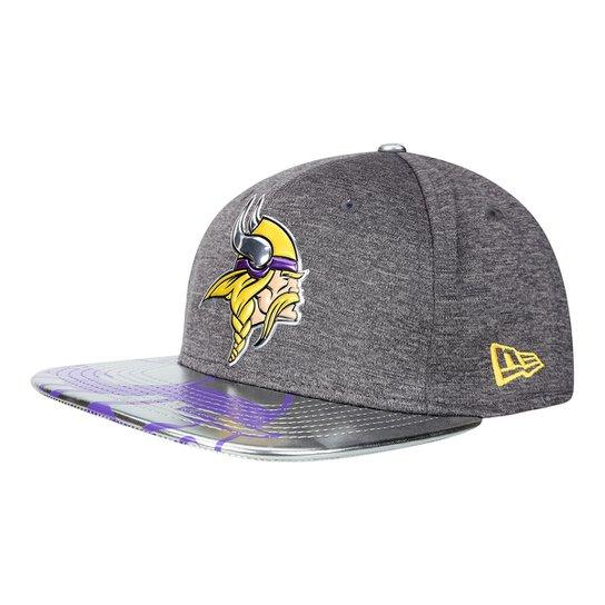 Boné New Era NFL Minnesota Vikings Aba Reta 950 Original Fit Sn Spotlight  Masculino - Cinza 13a95f79110