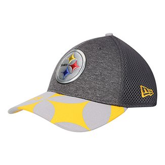 Boné New Era Pittsburgh Steelers Aba Curva 3930 Spotlight Masculino b6b21a989bd