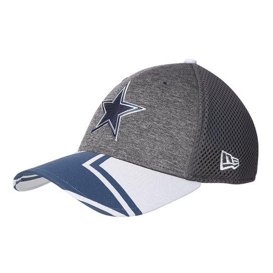 1ef9a6b31 Boné New Era NFL Dallas Cowboys Aba Curva 3930 Spotlight Masculino - Cinza