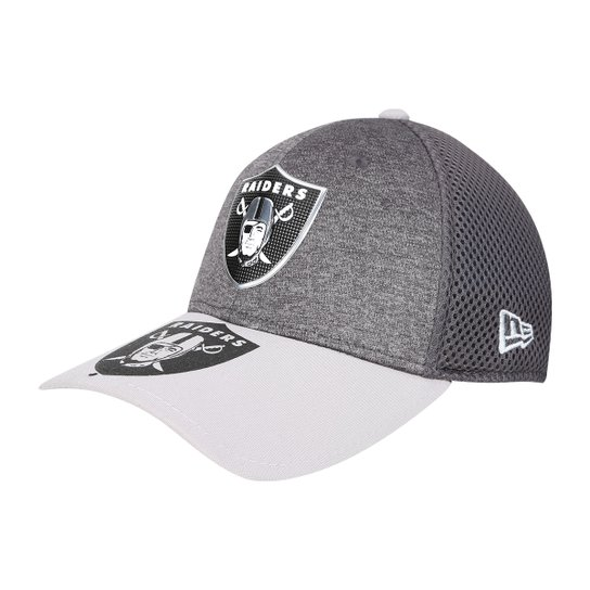 6ed5241a69 Boné New Era NFL Oakland Raiders Aba Curva 3930 Spotlight Masculino - Cinza