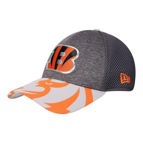 ef7c470ee9 Boné New Era NFL Cincinnati Bengals Aba Curva 3930 Spotlight Masculino -  Cinza