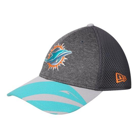 afda7b6a0a Boné New Era NFL Miami Dolphins Aba Curva 3930 Spotlight Masculino - Cinza