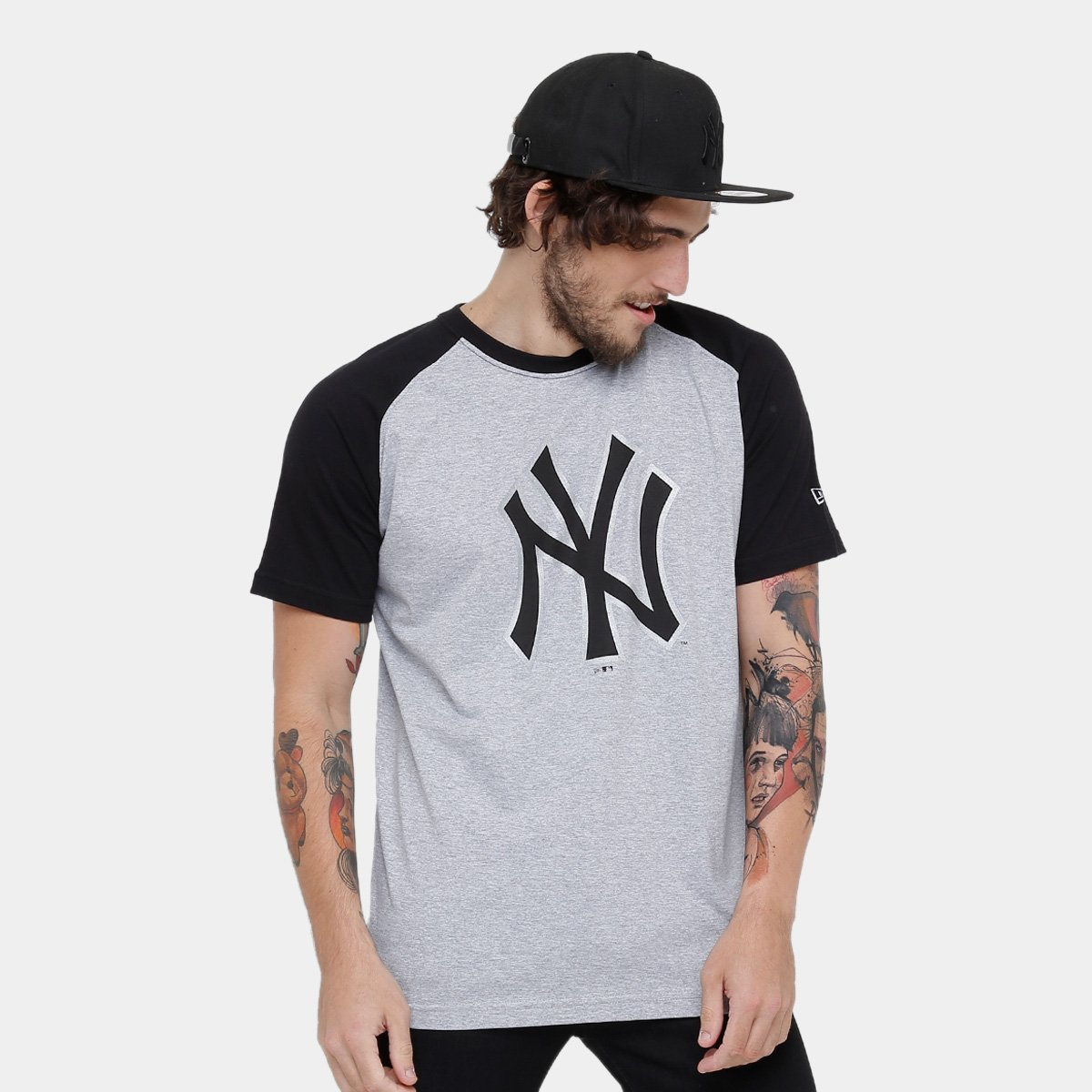 Camiseta MLB New York Yankees New Era Logo Masculina. undefined dab82c9955570