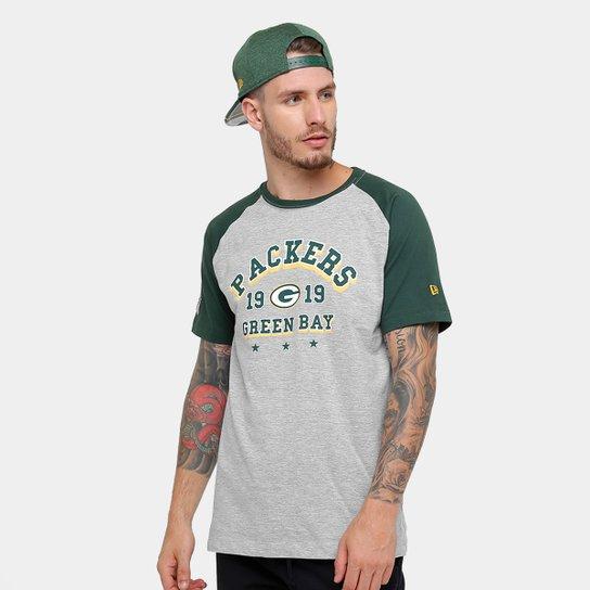 Camiseta NFL Green Bay Packers New Era Sinse Team Masculina - Cinza+Verde 0bb8e1438310f